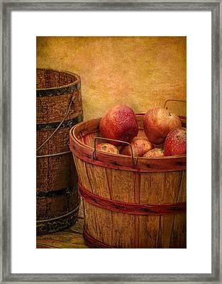 Basket Of Apples Framed Print by Robert Jensen
