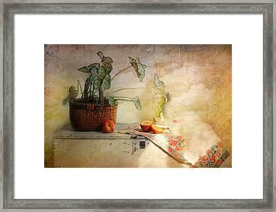 Basket Of Faith Framed Print by Diana Angstadt