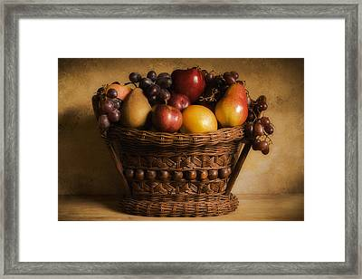 Basket Of Fruits Framed Print by Andrew Soundarajan