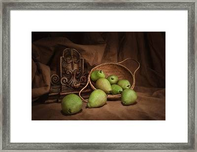 Basket Of Pears Still Life Framed Print by Tom Mc Nemar