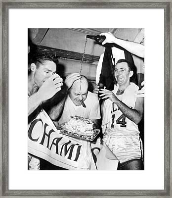 Basketball Champion Celtics Framed Print by Underwood Archives