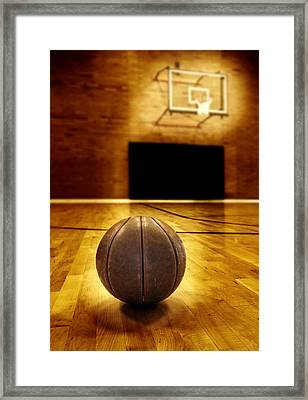 Basketball Court Competition Framed Print by Lane Erickson