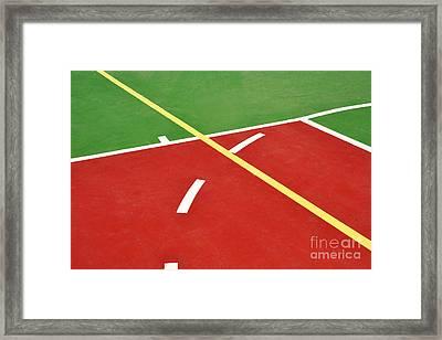 Basketball Court Framed Print by Luis Alvarenga