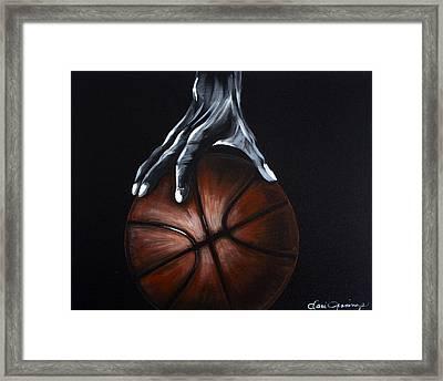 Basketball Legend Framed Print by Dani Abbott