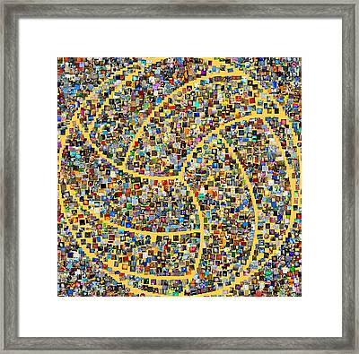 Basketball Mosaic Framed Print by Yury Malkov