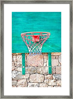 Basketball Net Framed Print by Tom Gowanlock