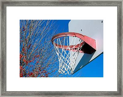 Basketball Net Framed Print by Valentino Visentini