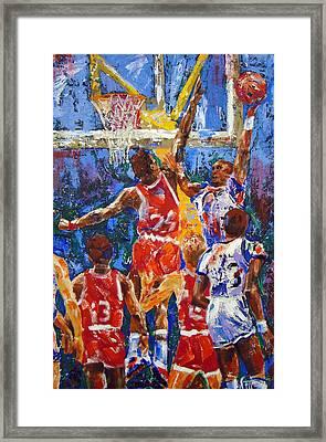 Basketball No 1 Framed Print by Walter Fahmy