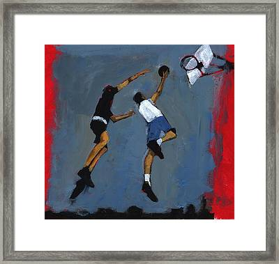 Basketball Players Framed Print by Paul Powis