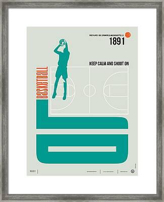 Basketball Poster Framed Print by Naxart Studio
