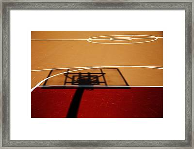 Basketball Shadows Framed Print by Karol Livote