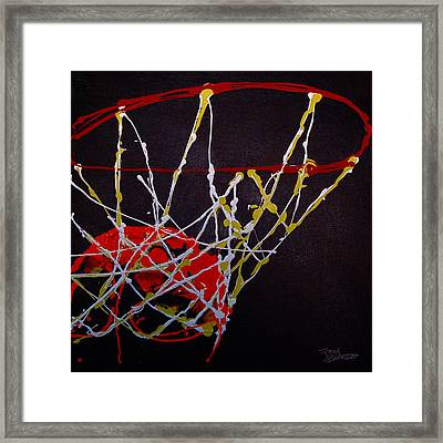 Basketball Framed Print by Tracey Bautista
