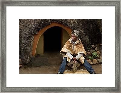 Basotho Herbal Healer Framed Print by Bob Gibbons