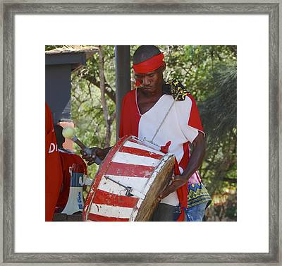 Bass Drummer Labadee Haiti Framed Print by David Coleman