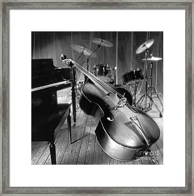 Bass Fiddle Framed Print by Tony Cordoza