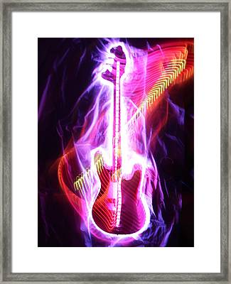 Bass Guitar 1 Framed Print by Patrick Daniel Trombly