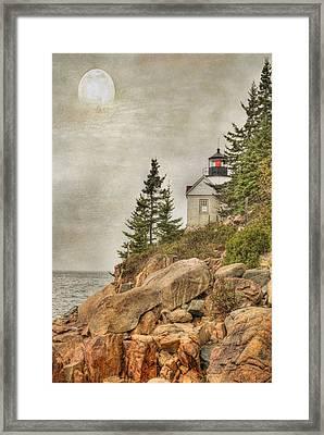 Bass Harbor Head Lighthouse. Acadia National Park Framed Print by Juli Scalzi