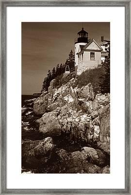 Bass Harbor Head Lighthouse Framed Print by Skip Willits