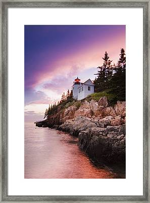 Bass Harbor Lighthouse Framed Print by Mircea Costina Photography
