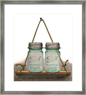 Balls To The Wall Framed Print by Ferrel Cordle