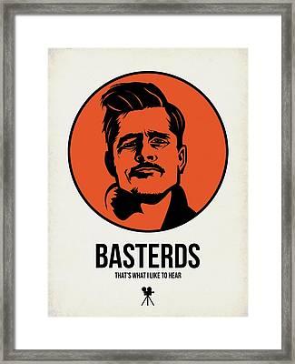 Basterds Poster 1 Framed Print by Naxart Studio