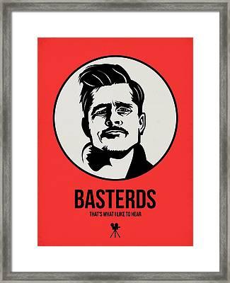 Basterds Poster 2 Framed Print by Naxart Studio