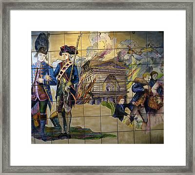 Bastille Metro No 1 Framed Print by A Morddel