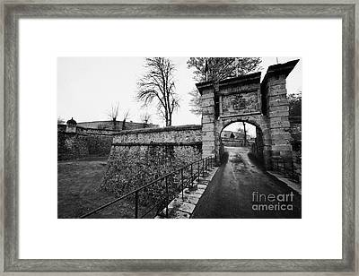 Bastion And Entrance To Mont-louis Fortress Of Vauban Unesco World Heritage Site City Walls Pyrenees Framed Print by Joe Fox