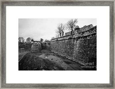 Bastion And Solar Furnance Of Mont-louis Fortress Of Vauban Unesco World Heritage Site City Walls Py Framed Print by Joe Fox