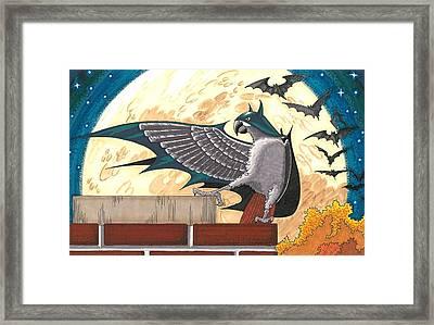 Bat Bird Framed Print by Drisdan