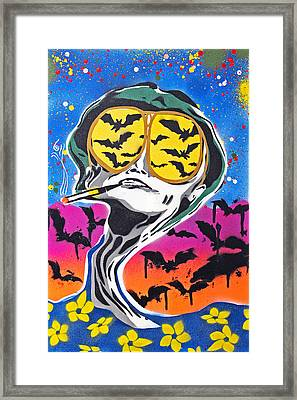 Bat Country Framed Print by Victor Cavalera