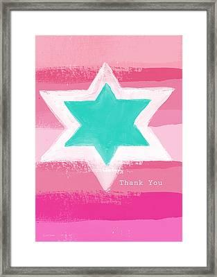 Bat Mitzvah Thank You Card Framed Print by Linda Woods