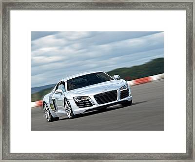 Bat Out Of Hell - Audi R8 Framed Print by Gill Billington
