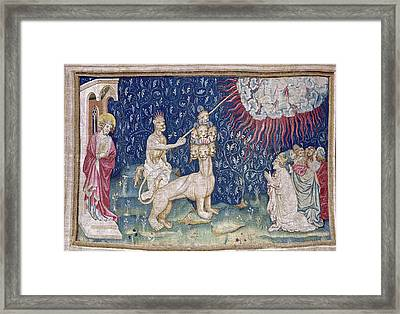 Bataille, Nicolas 14th C.. He Beast Framed Print by Everett