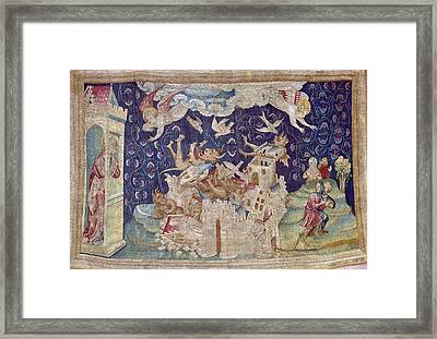 Bataille, Nicolas 14th C.. The Fall Framed Print by Everett