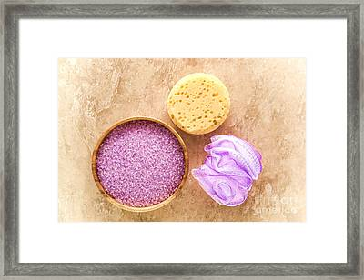 Bath Accessories Framed Print by Olivier Le Queinec