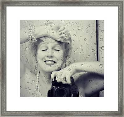 Bath Mirror Framed Print by Diana Angstadt