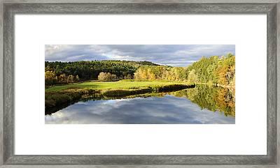 Bath Nh Autumn Panorama Framed Print by Luke Moore