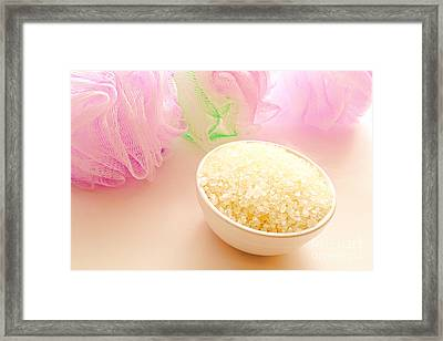 Bath Sea Salts Framed Print by Olivier Le Queinec