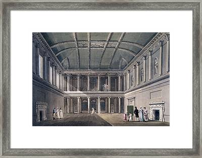 Bath, The Concert Room, From Bath Framed Print by John Claude Nattes