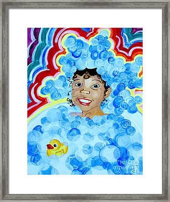 Bath Time Framed Print by Aliya Michelle