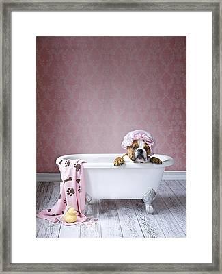 Bath Time Framed Print by Lisa Jane