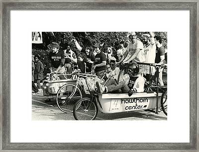 Bath Tub Bicycle Race Framed Print by Retro Images Archive