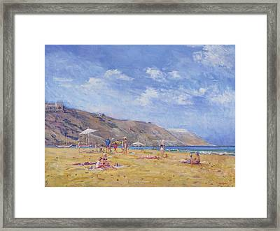 Bathers, Gozo  Framed Print by Christopher Glanville