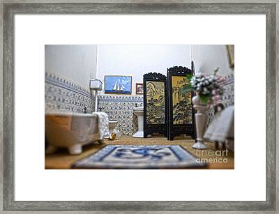Bathroom For Royal Dolls Framed Print by RicardMN Photography