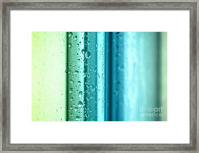 Bathroom Stripes Abstract Framed Print by Natalie Kinnear