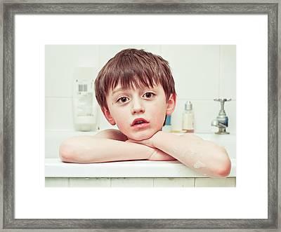 Bathtime Framed Print by Tom Gowanlock