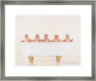 Bathtub Babies Framed Print by Anne Geddes