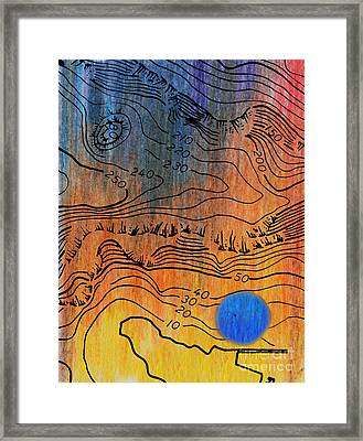 Bathymetry Framed Print by R Kyllo