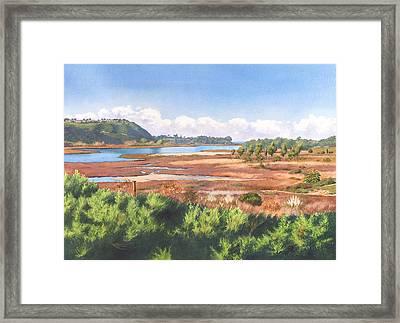 Batiquitos Lagoon Carlsbad California Framed Print by Mary Helmreich